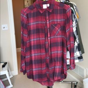 Plaid longsleeve shirt from Nordstrom's